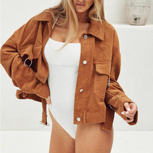 Solid Color Long Sleeve Jacket