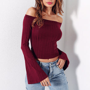 Solid Color Sexy T-Shirt