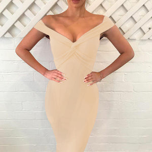 Slim Sexy V-Neck Halter Dress