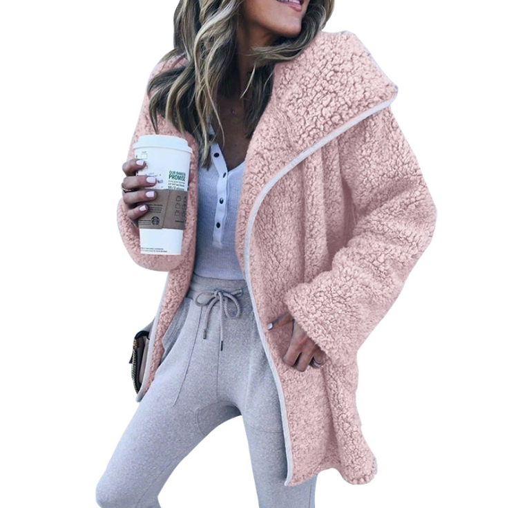 Solid Color Loose Long Sleeve Cardigan Coat
