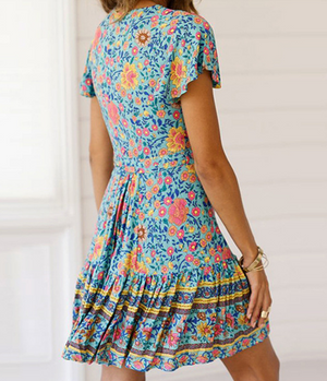 Flowy Short Boho Sundress
