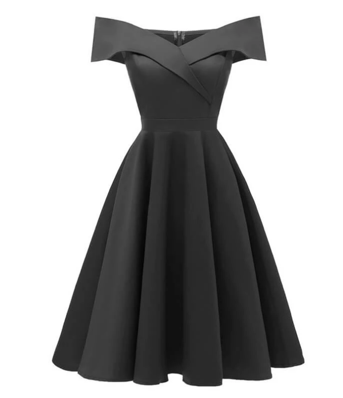Sleeveless A-Line Cocktail Vintage Dress