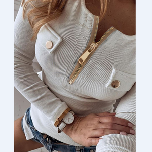 Casual Buttoned Long Sleeve T-Shirt
