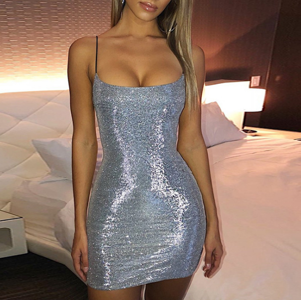 Sexy Shiny Sling Dress