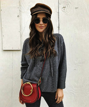 Solid Color Long Sleeve Casual Sweater