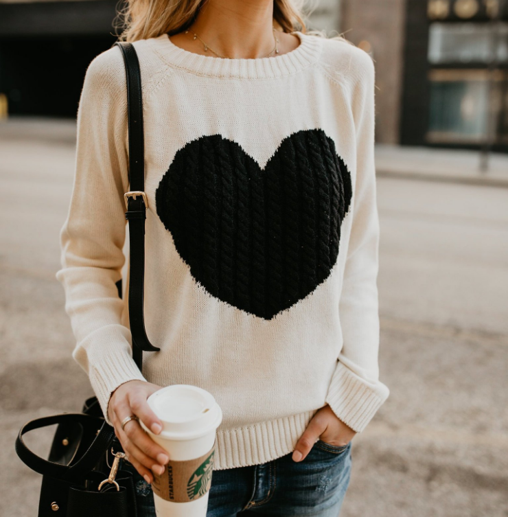 Women'S Solid Color Long Sleeves Knitted Sweaters