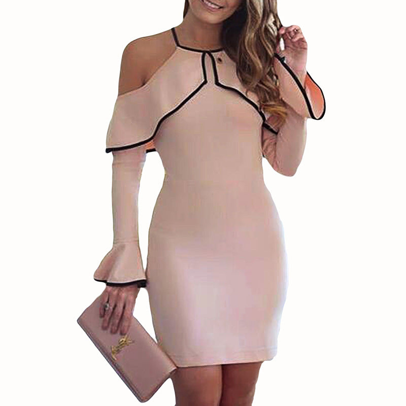 Fashion Solid Color Strapless Dress