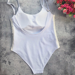 Women Sexy Lace Bikini One-Piece Swimsuit