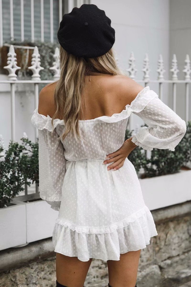 One-Neckline High-Rise Off-The-Shoulder Dress