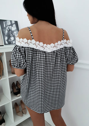 Casual Lace Sling Short-Sleeved T-Shirt