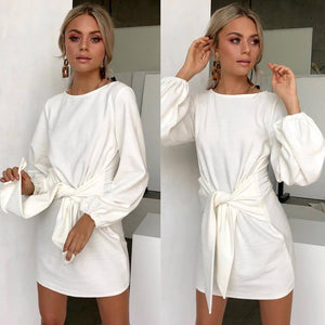 Casual Women's Round Neck Long Sleeve Dress