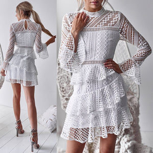 Long Sleeve Lace Sexy Dress