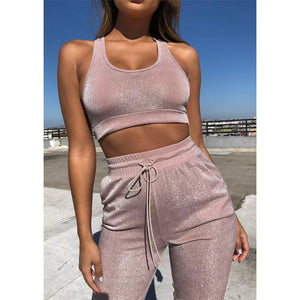 Fashion Sexy Sports Vest Two-Piece Pants