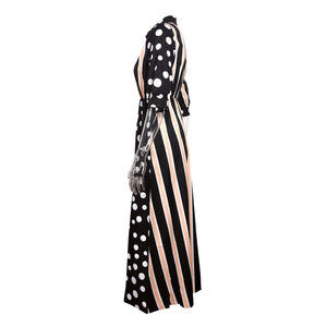 Fashion Printed Striped Dress