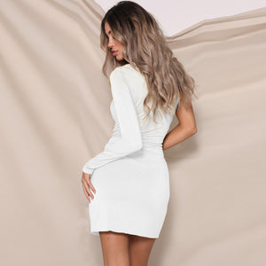 Fashion Long Sleeve Hip Dress