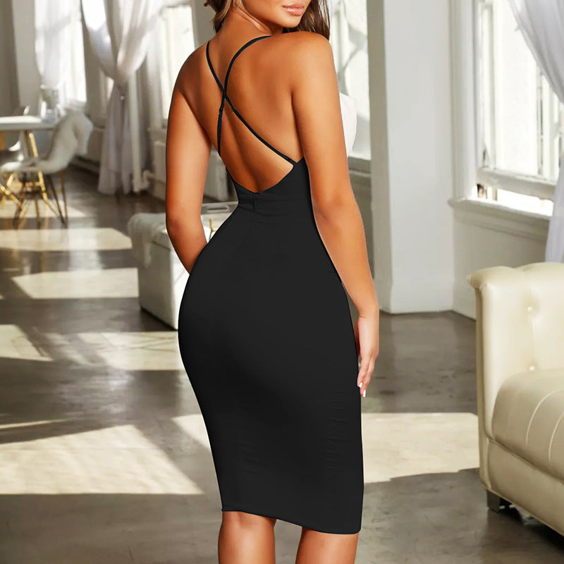 Sexy Bag Hip Slim Sling Dress