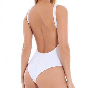 Solid Color Fashion Sexy One-Piece Bikini Swimsuit