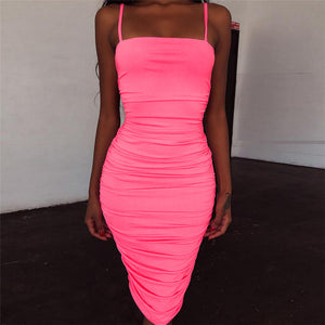 Fashion Sexy Sling Slim Sleeveless Dress