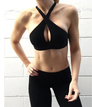 Halter Neck Hollow Out Sports Fitness Yoga Bras