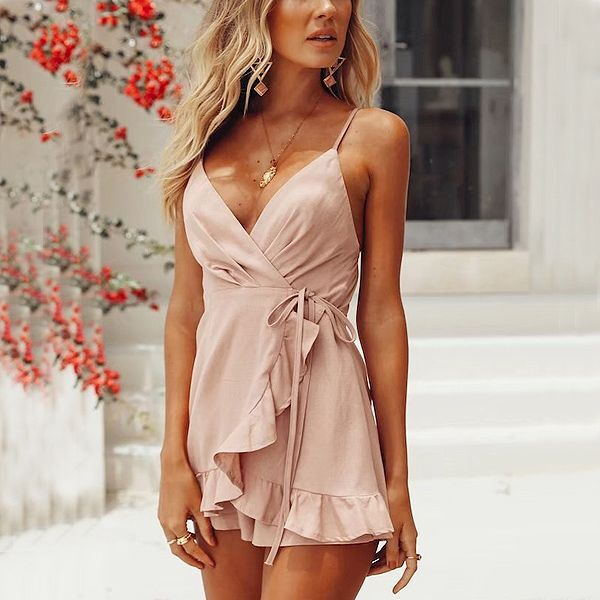 Backless Sleeveless Sling Jumpsuit