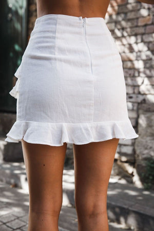 White Flounced Skirts