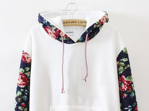 Retro Flowers Hooded Sweater