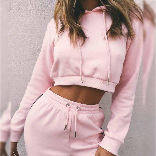 Hot Sale Summer Women's Fashion Hats Crop Top Bottom & Top Sportswear Set