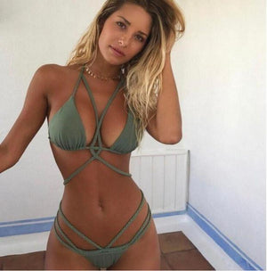 Sexy Green two piece bikini