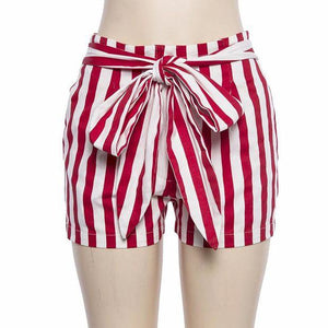 Casual Pants Summer Hot Sale Women's Fashion Stripes High Waist Hip Up Shorts