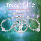MABELLA Tree of Life Adjustable Bracelets Embellished with Crystals from Swarovski,Gifts for Women