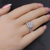 MABELLA Women's 1.8 CTW Princess Cut 925 Sterling Silver CZ Wedding Engagement Ring Set