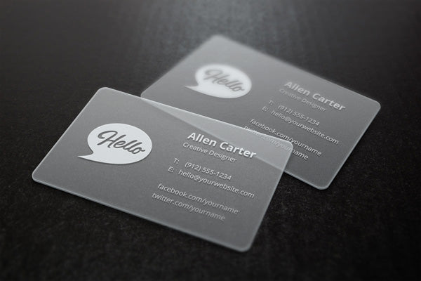 PVC Transparent Business Card