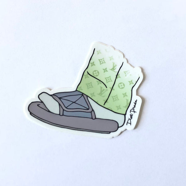 YEEZY FEET STICKER - 3""