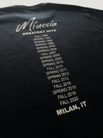 MIUCCIA GREATEST HITS BOXY T-SHIRT - BLACK
