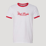 ENJOY DP RINGER T-SHIRT - WHITE / RED