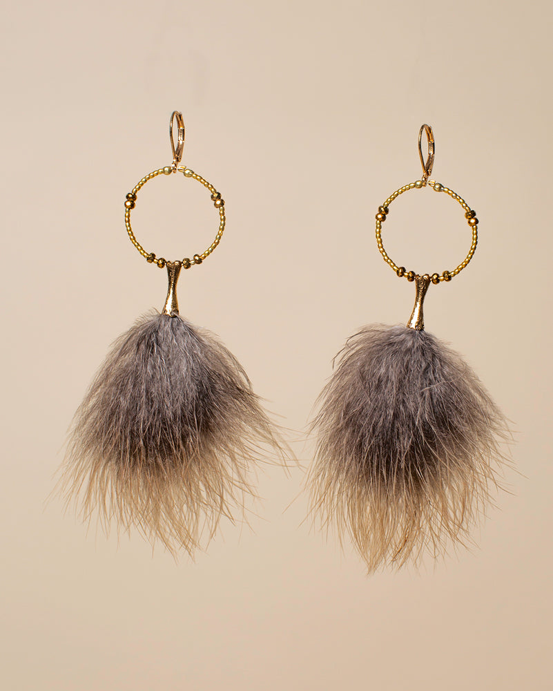 Clemmie Watson Fur Sure Drop Earrings