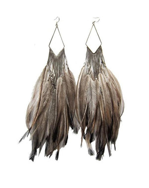 Clemmie Watson Emu Snake Chain Fringe Earrings