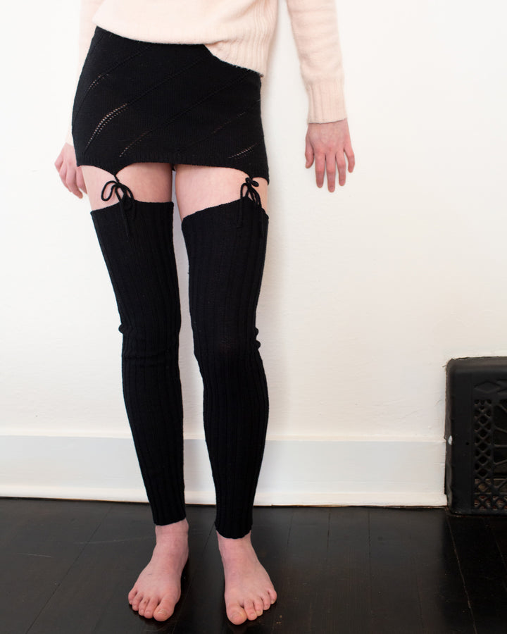 The Cashmere Garter Belt & Leg Warmers