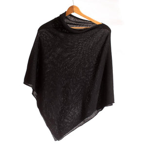 golightly cashmere the cashmere poncho black