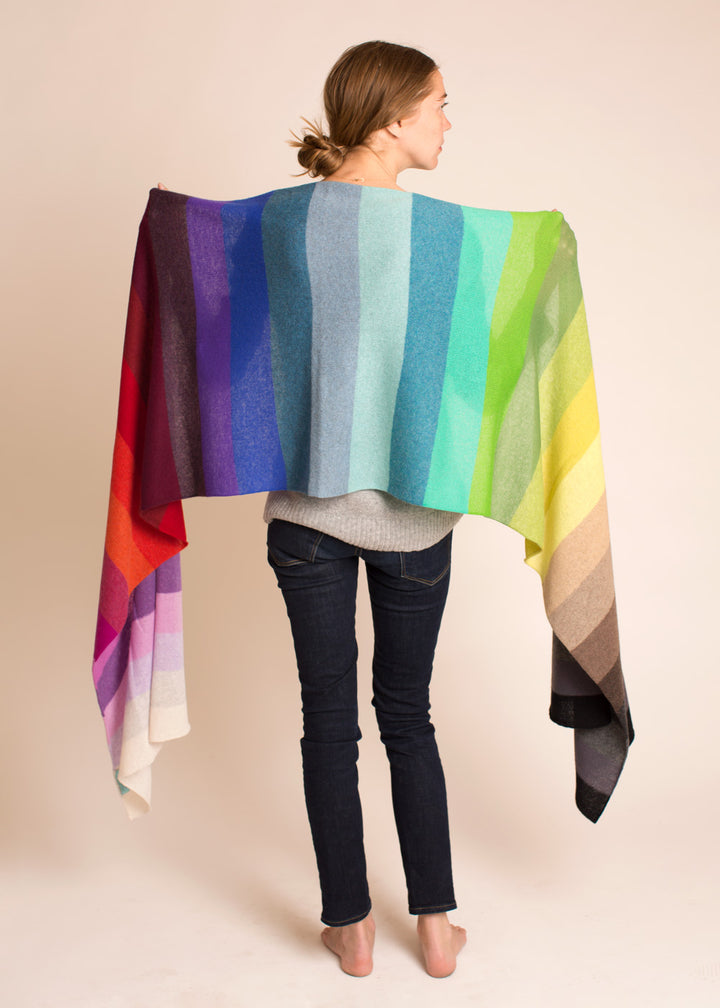 The Oversized Rainbow Scarf