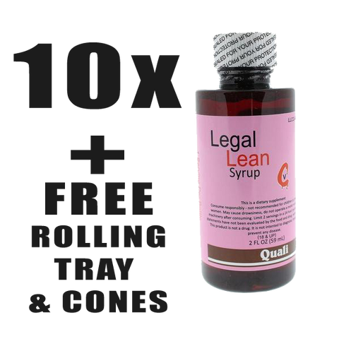10x Legal Lean Cherry Syrup + Tray + Cones| BezzBelieve - BezzBelieve