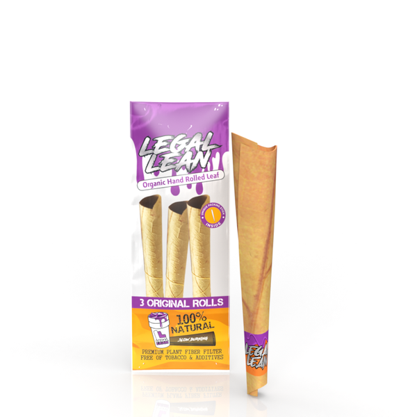 Natural Legal Lean Cone Natural Leaf Wraps King Size - BezzBelieve