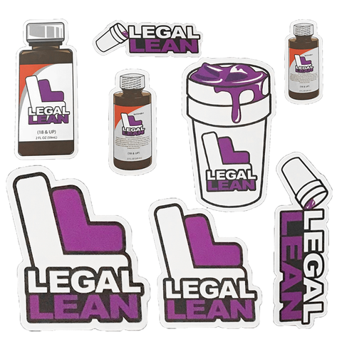Legal Lean Sticker Pack 8ct Variety Pack - BezzBelieve