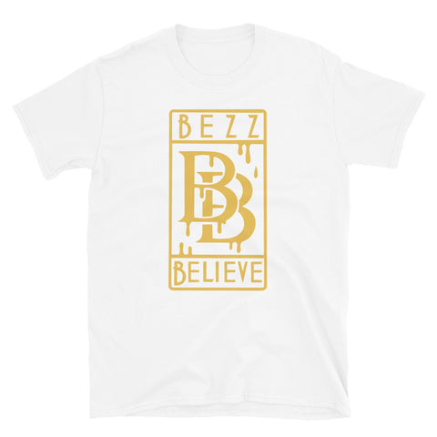 """New Drip"" Bezz Believe"" Short-Sleeve Unisex T-Shirt (Gold) - BezzBelieve"