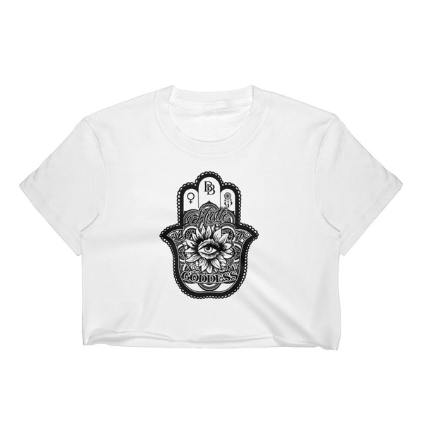 Los Angeles Apparel 2332 Fine Jersey Short Sleeve Cropped T-Shirt w/ Tear Away Label - BezzBelieve