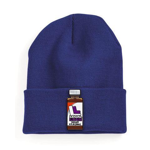 Navy Legal Lean Beanie with Patch | BezzBelieve - BezzBelieve
