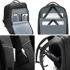 Stylish Backpack That Fits 17 Inch Laptop, Water Repellent & USB Charging Port
