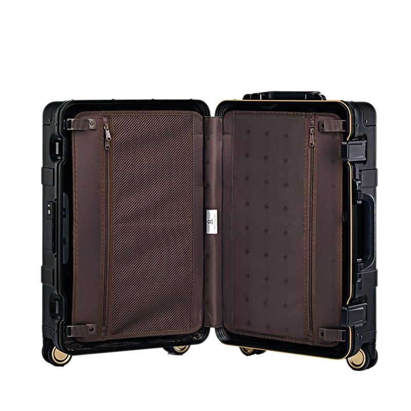 Metal Suitcase With Spinner Wheels & Lock