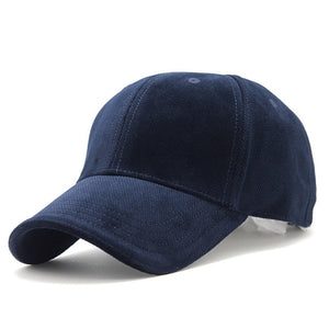 Luxury Cotton Velvet Baseball Cap