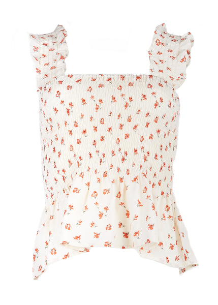 Audrey Smocked Sleeveless Top - Fleur & Sonnet